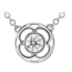 Jewelry - Round Cut 1.50 Ct. Solitaire Diamond Pendant Neckl